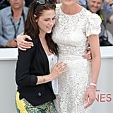Kristen Stewart and Kirsten Dunst had fun together at the On the Road photocall at the Cannes Film Festival.