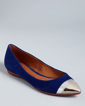 Schutz's cap-toe flats ($105, originally $150) are proof that you don't need high heels to emote serious party spirit.