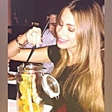 "Sofia Vergara enjoyed eating ""a big Chinese shrimp"" during her trip overseas. Source: Sofia Vergara on WhoSay"
