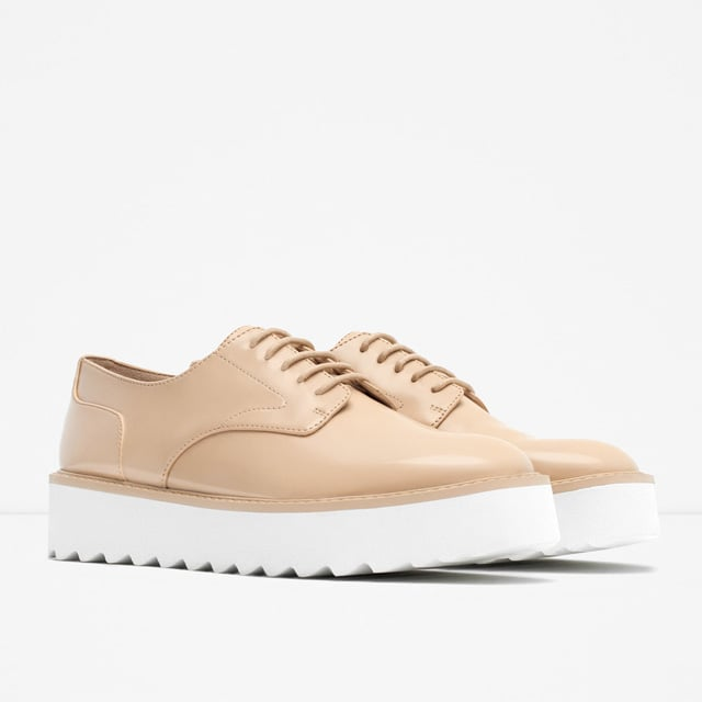 Zara Flat Platform Lace-Up Shoes ($50)