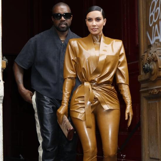 Kim Kardashian's Balmain Latex Looks at Paris Fashion Week