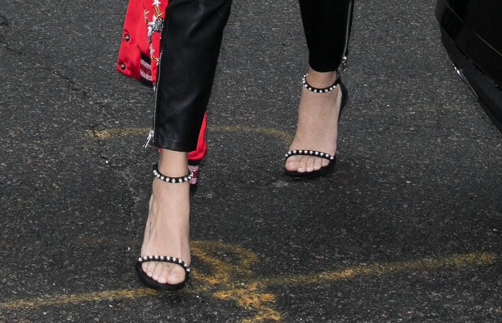 3fde265bfbf Selena s exact Stuart Weitzman heels are now on sale for  134 ...