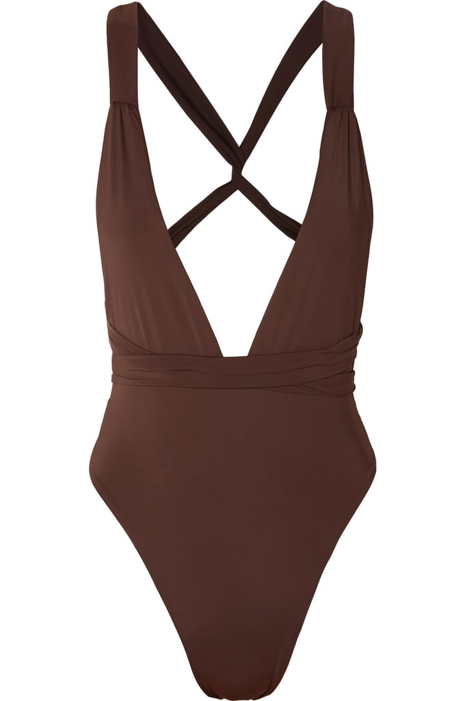 Shop the Myra Farrah Convertible Swimsuit in Brown