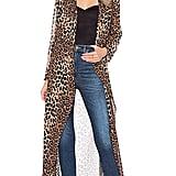By The Way Freya Leopard Drape Trench