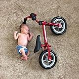 Baby vs. bicycle.
