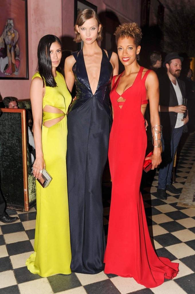 Michelle Ochs, Karlie Kloss, and Carly Cushnie, all in Cushnie et Ochs, at the brand's afterparty at the Gramercy Park Hotel.  Photo: Neil RasmusBFAnyc.com