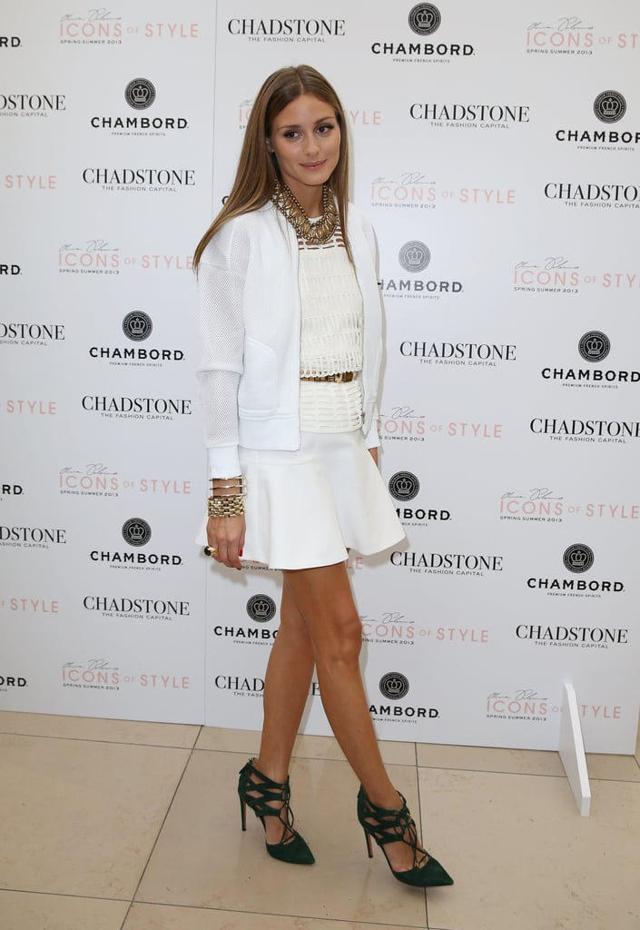 Look who's in Australia! Olivia Palermo stepped out in Melbourne in a chic white-on-white ensemble at Chadstone shopping centre.