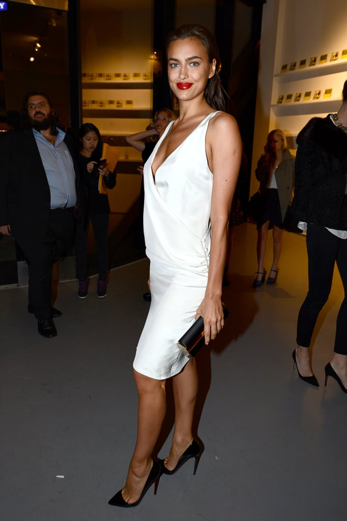 Irina Shayk celebrated the new Mario Testino exhibit at LA gallery Prism.