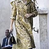 Miroslava Duma at Paris Fashion Week Spring 2017