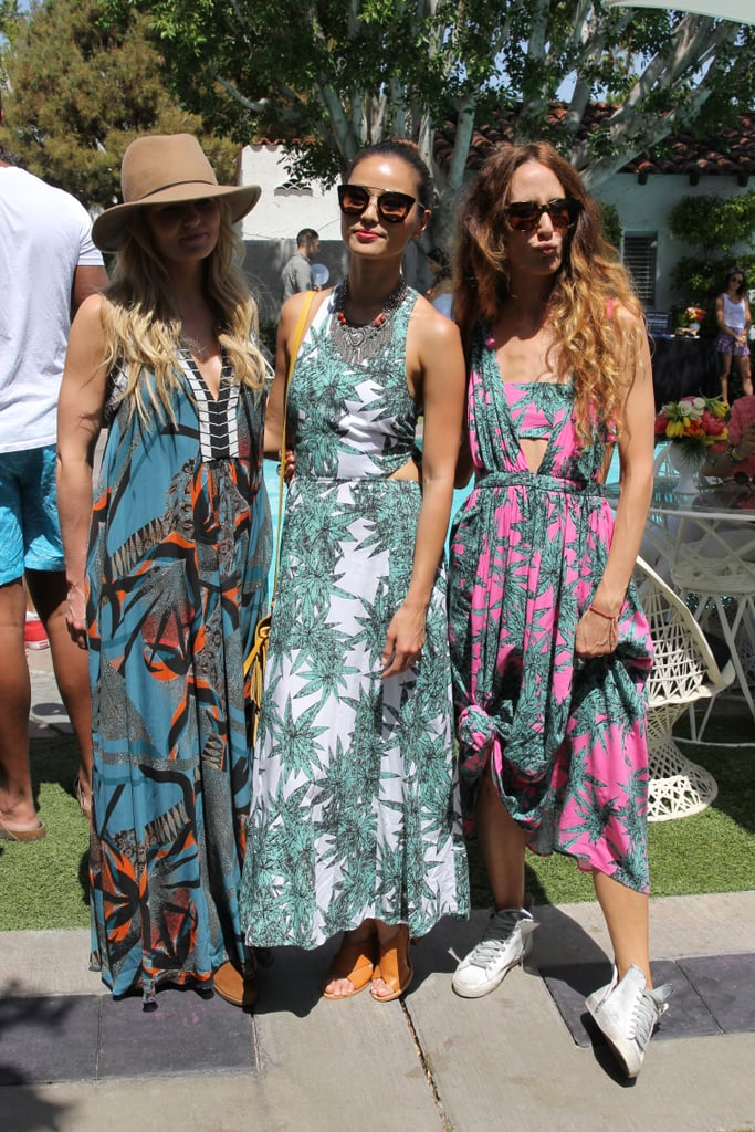 Jennifer Morriston, Jamie Chung, and Mara Hoffman showed off their boho-inspired printed maxi dresses. We love how the designer knotted her own design, showing off her high-top sneakers.