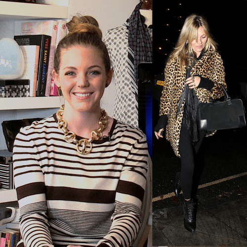 Kate Moss Wears a Leopard Coat in London