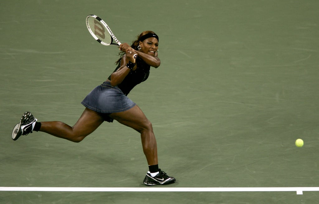 Serena Williams Debuted This Denim Skirt at the 2004 US Open