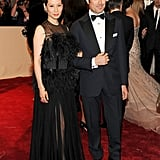 Lucy Liu in Vionnet, with Matteo Marzotto