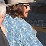 Pictures of Johnny Depp on the LA Set of Jack and Jill