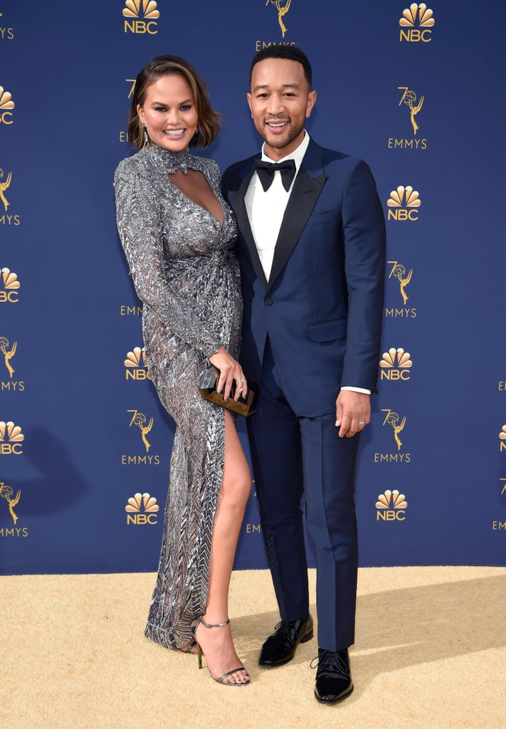 Chrissy Teigen Zuhair Murad Dress at the 2018 Emmys