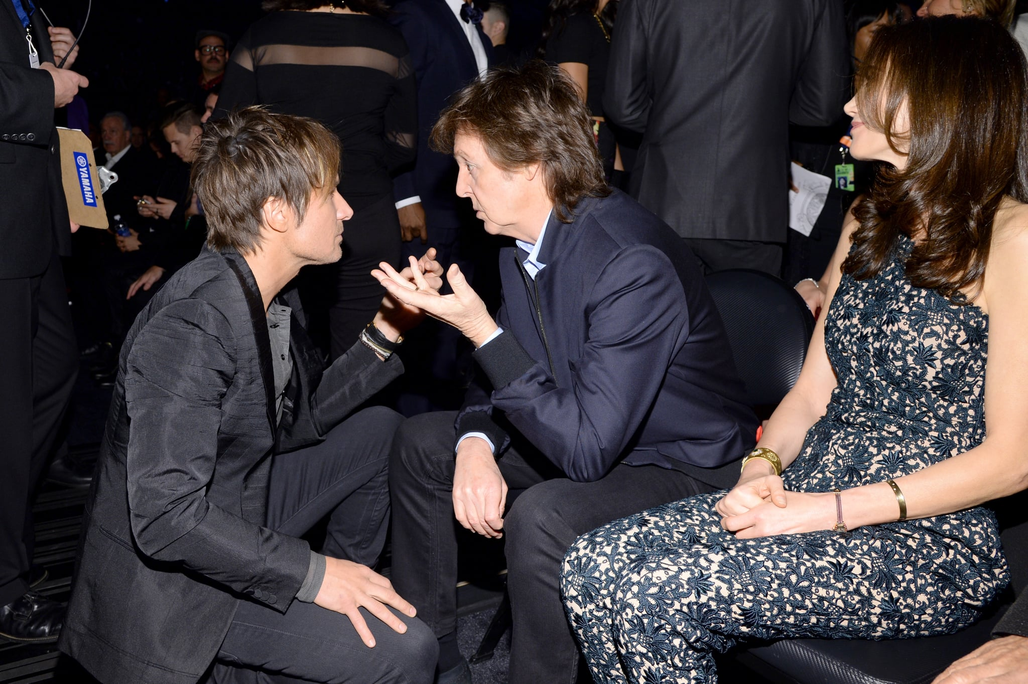 Keith Urban chatted with Paul McCartney.