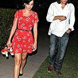 Katy Perry and John Mayer walked to his car together.