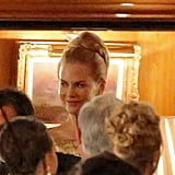 Nicole Kidman smiled during a scene.