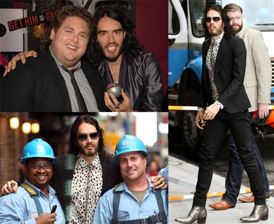 Pictures of Russell Brand Promoting Get Him to the Greek