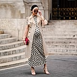 Style a PVC Number Over a Polka-Dot Dress
