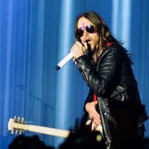 Jared Leto Face Paint at 30 Seconds to Mars Performance