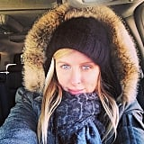 Nicky Hilton bundled up to brave blistering temperatures. Source: Instagram user nickyhilton