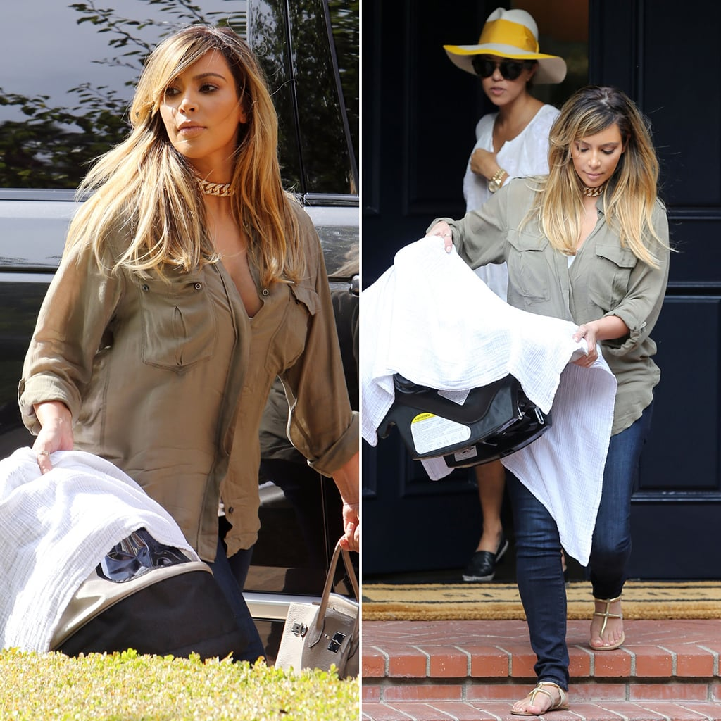 Kim Kardashian Blond With North West   Pictures