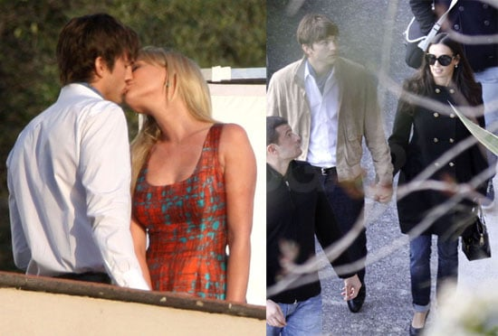 Photos of Ashton Kutcher Kissing and Filming with Katherine Heigl in France
