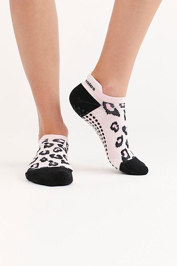 Great Soles Keira Leopard Grip Socks