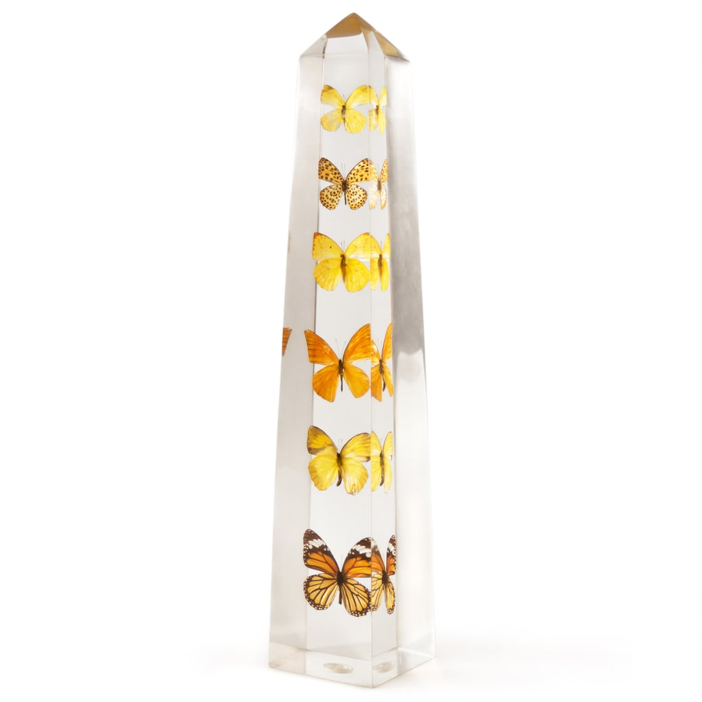 This Jonathan Adler Lucite Butterfly Obelisk ($395) reminds me of a Damien Hirst art piece. It's quirky and beautiful, and it would be a fitting accent on the desk of that polished, creative professional you know, whether it's your mom or best friend. — Lindsay Miller, entertainment editor