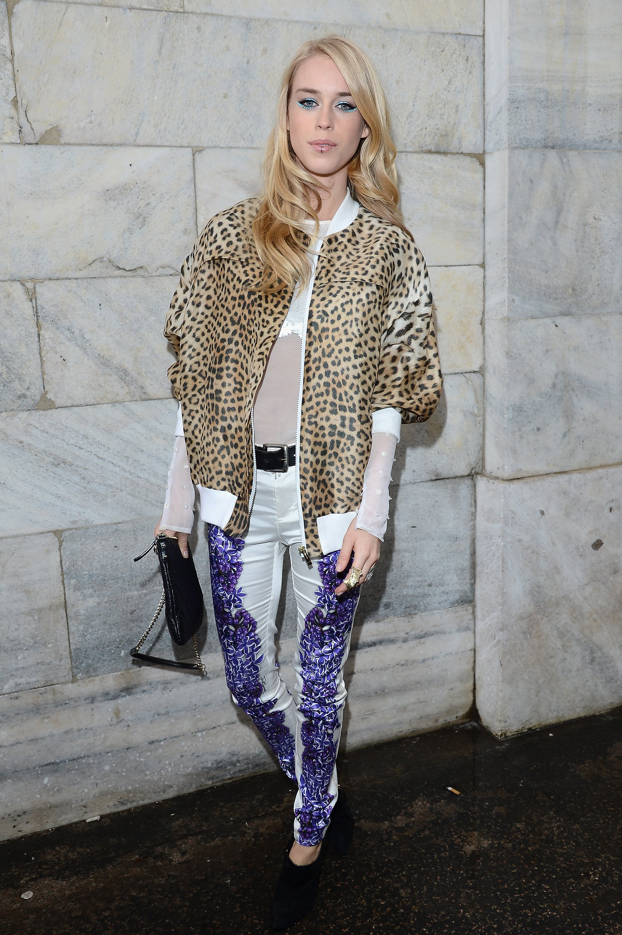 Mary Charteris at the Just Cavalli Fall 2013 show in Milan.