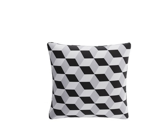 Black Cube Throw Pillow