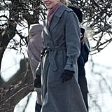 Nicole Kidman filmed Before I Go to Sleep in London on Tuesday with a smile.
