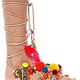 Elina Linardaki Penny Lane Pom Pom Sandals ($225)