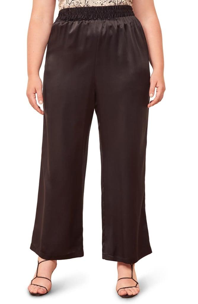Reformation Harland Satin Pants (Plus Size)