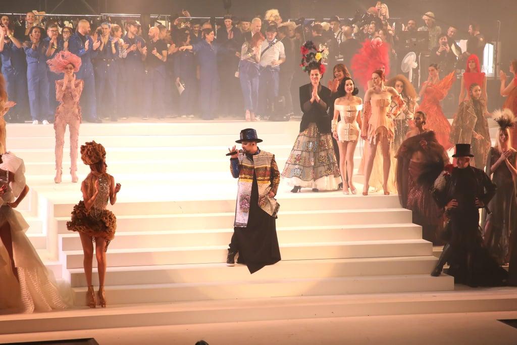 Boy George Performing on the Jean Paul Gaultier Runway