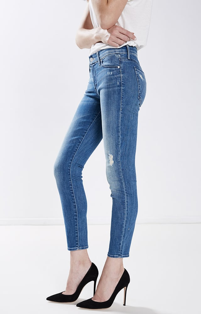 There's something sexy about displaying a hint of skin without revealing too much, and a crop jean that shows just a little leg is an easy way to pull it off. The Looker Crop by Mother Denim ($205) would be my ideal choice, in the perfect vintage wash and raw hem. I just can't resist a pair of denim jeans that looks a bit beaten up. — JC