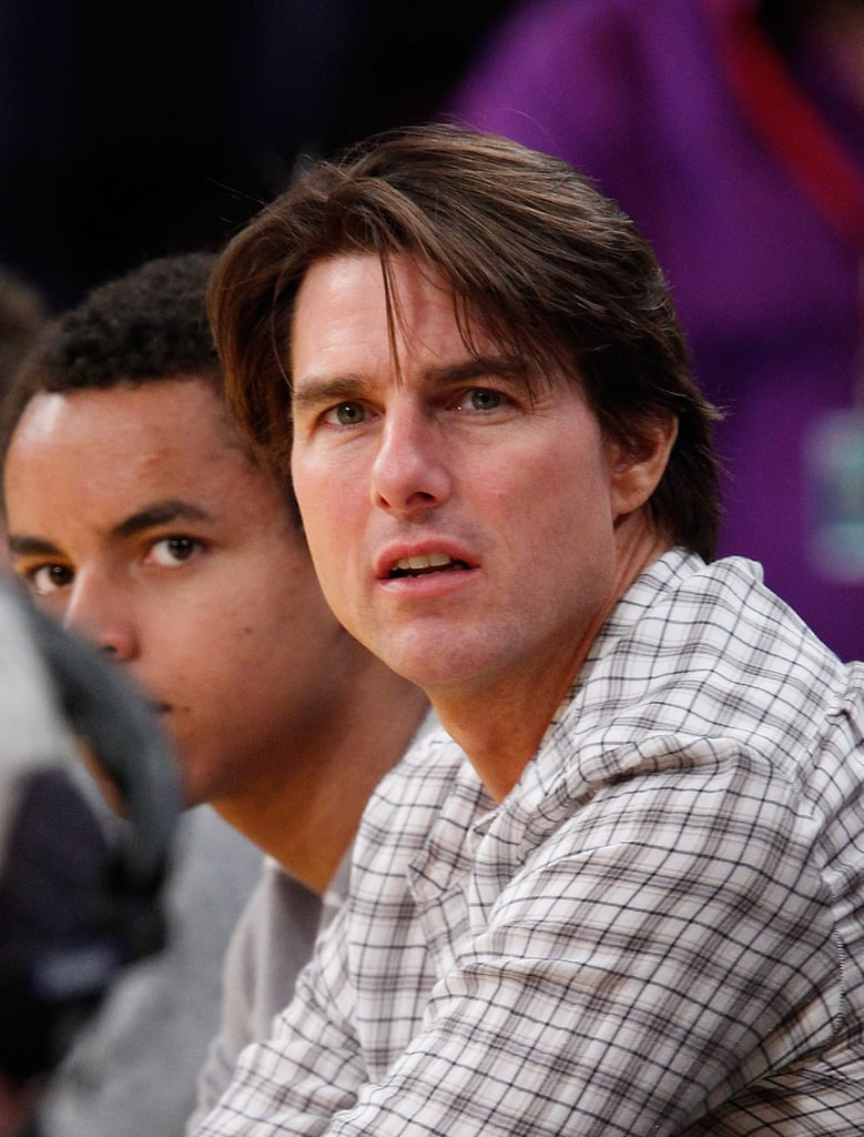 Pictures of Tom Cruise And Leonardo DiCaprio at a Lakers Game in LA