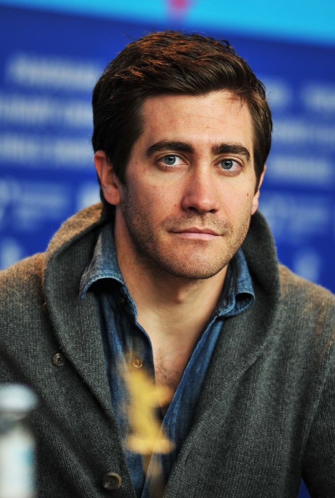 Jake Gyllenhaal rocked a sweater in Berlin.