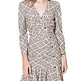 Veronica Beard Rowe Check Button-Front Shirtdress