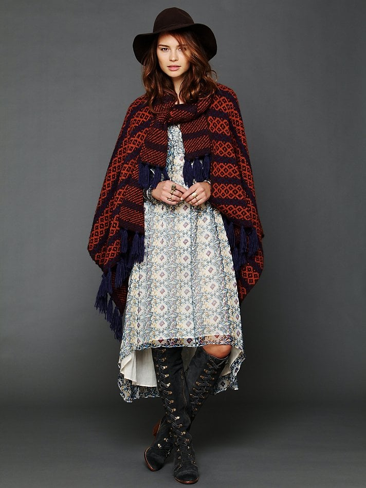 With a much more bohemian twist, this printed Collection 18 poncho ($88) is the piece that will keep you warm underneath that rain slicker. And to top it all off, you can use it as a makeshift headscarf-meets-take cover in dire rainy-day situations.