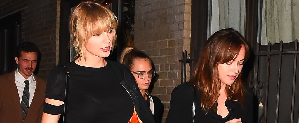 Taylor Swift Shows Off Some Serious Leg During a Night Out With Friends