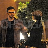 Justin Timberlake and Jessica Biel shared a romantic meal while vacationing in Europe together.