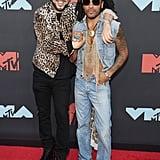 French Montana and Lenny Kravitz at the 2019 MTV VMAs