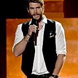 Liam Hemsworth took to the stage during the show.