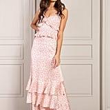 Senlis Nora Ruffled Sleeveless Maxi Dress