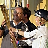 Royal and Olympian Zara Phillips carried the Olympic torch in May.