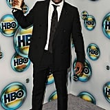 Idris Elba posed with his Golden Globe for Luther at the HBO party.