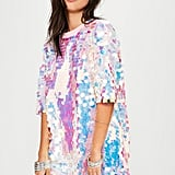 Missguided Pink Sequin T-Shirt Dress