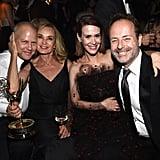 Ryan Murphy, Jessica Lange, Sarah Paulson, and John Landgraf celebrated at FOX's party.